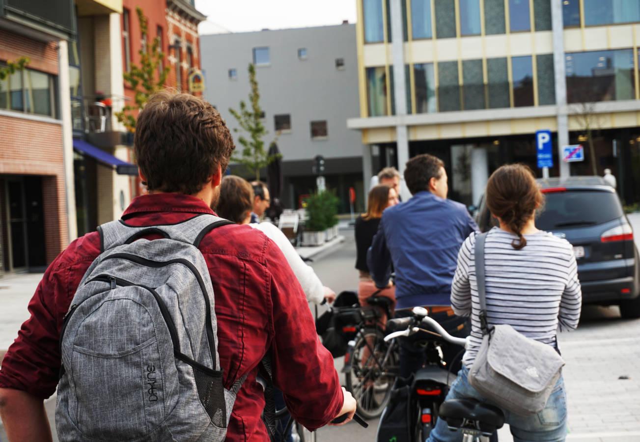 Foto fietsers